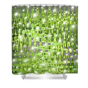 Future Forest Abstract Shower Curtain