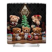 Fuzzy Bears 10 Shower Curtain