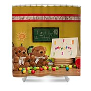 Fuzzy Bears 2 Shower Curtain