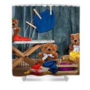 Fuzzy Bears 4 Shower Curtain