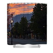 G Street Sunrise In Our Town Shower Curtain