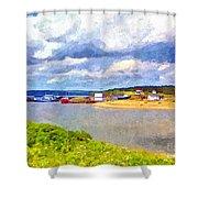 Gabarus Cape Breton Nova Scotia Fishing Village Shower Curtain