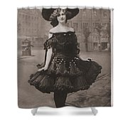 Gabrielle Ray Ca.1905 Shower Curtain