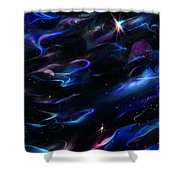 Galaxies Shower Curtain