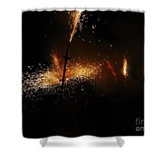 Galaxy Of Sparks Shower Curtain