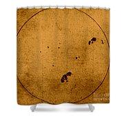 Galileo Sunspot Illustration Shower Curtain