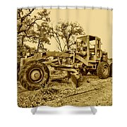 Galion Road Grader V2 Shower Curtain