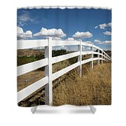 Galloping Fence Shower Curtain