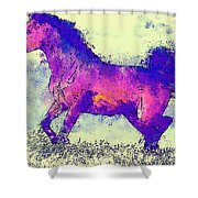 Galloping Grace Shower Curtain