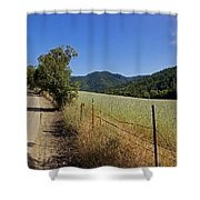 Galls Creek Road In Southern Oregon Shower Curtain