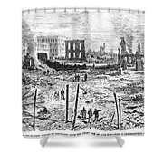 Galveston: Fire, 1877 Shower Curtain