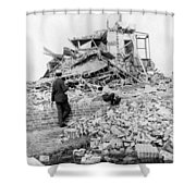 Galveston Flood Damage - September - 1900 Shower Curtain