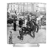 Galway Ireland - The Market At Eyre Square - C 1901 Shower Curtain