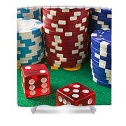Gambling Dice Shower Curtain