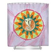 Ganesh Mandala Shower Curtain by Sonali Gangane