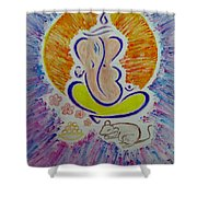 Ganesh Vandan Shower Curtain