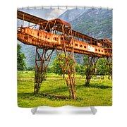 Gantry Crane Shower Curtain