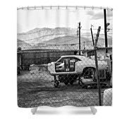 Garage Days Bw Shower Curtain