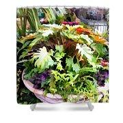Garden Bowl Of Foliage Shower Curtain