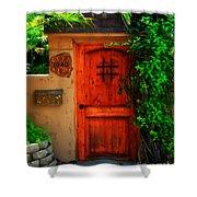 Garden Doorway Shower Curtain by Perry Webster