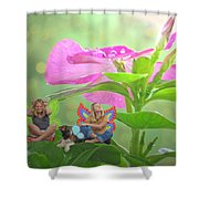Garden Fairy Friends Shower Curtain