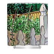 Garden Fence Sketchbook Project Down My Street Shower Curtain
