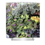 Garden Flower Border Shower Curtain