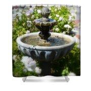 Garden Fountain Shower Curtain