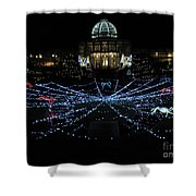 Garden Lights Fest Botanical Garden Richmond Va Shower Curtain