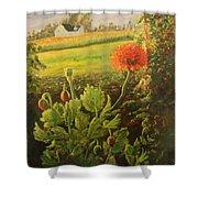 Garden Poppies Shower Curtain