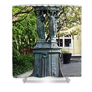 Garden Statuary In The French Quarter Shower Curtain