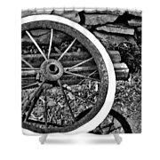 Garden Wheel Shower Curtain