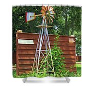 Garden Windmill Shower Curtain