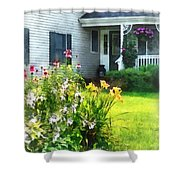 Garden With Coneflowers And Lilies Shower Curtain