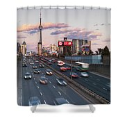 Gardiner Expressway Toronto Shower Curtain