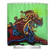 Gargoyle Dog Shower Curtain