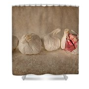 Garlic And Textures Shower Curtain
