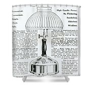 Gas Lamp Ad Shower Curtain by Omikron