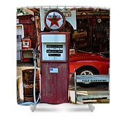 Gas Pump - Texaco Gas Globe Shower Curtain