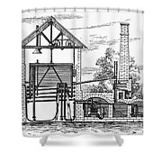 Gas Works, 1815 Shower Curtain