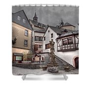Gasthaus And Church-colour Shower Curtain