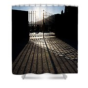 Gate In Backlight Shower Curtain