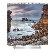 Gate In The Ocean Shower Curtain by Evgeni Dinev