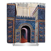 Gate Of Ishtar, Babylonia Shower Curtain by Photo Researchers