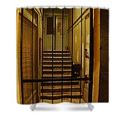 Gated Stairwell At Night Shower Curtain