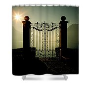 Gateway To The Lake Shower Curtain by Joana Kruse
