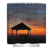 Gazebo At Sunset Seaside Park, Nj Shower Curtain