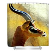 Gazelle Shower Curtain by Karen Wiles