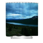 Gazing East Two Medicine  Shower Curtain