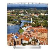 Gdansk Cityscape Shower Curtain